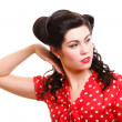 Pin-up girl American style retro woman — Stock Photo