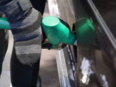 Car fueling at the filling station — Stock Photo