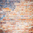 Background of red brick wall texture -  