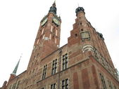 ポーランド ・ グダニスクの旧市街の市庁舎 — ストック写真