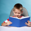 Child boy with a book — Stock Photo