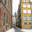 Old town Gdansk Danzig Poland, winter — Stock Photo