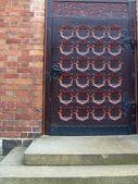 An old metal door handle — Foto de Stock