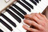 Handen en pianist — Stockfoto