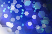 Abstract blue background with hexagons — Stock Photo