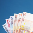 European currency euro banknotes — Stock Photo