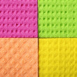 Colorful sponge foam as background texture — Stock Photo