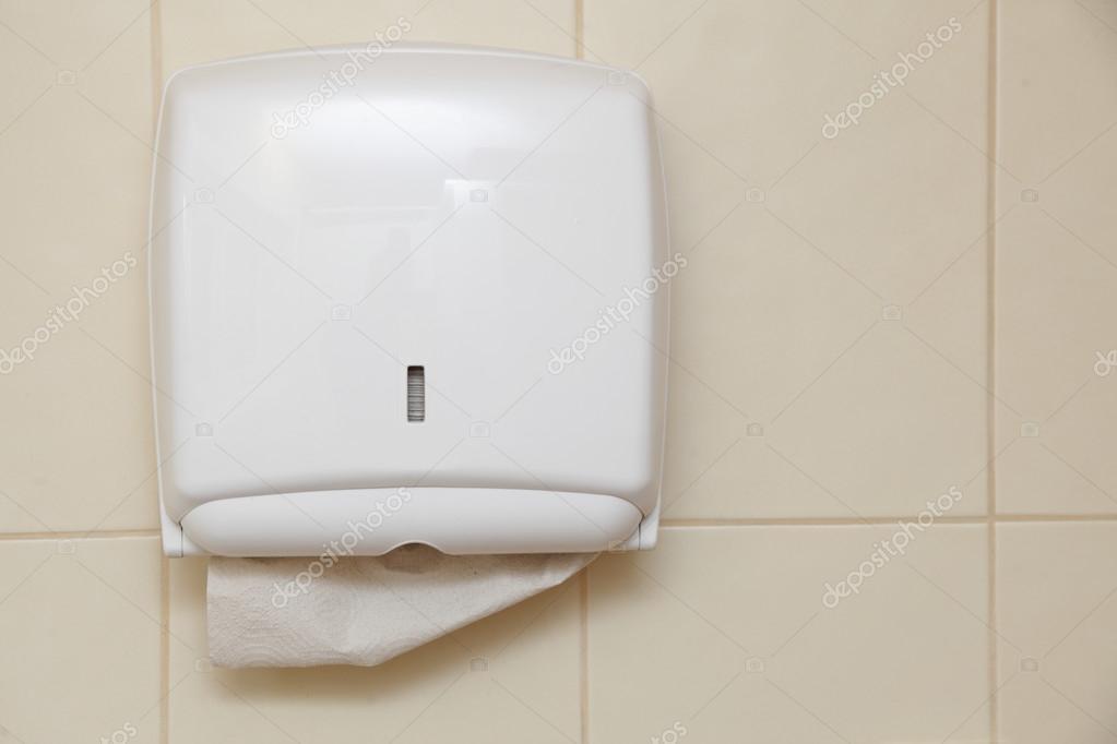 Dispensador De Papel Toalha No Banheiro Foto Stock Voyagerix 26340889