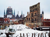 Ruins of old town in Gdansk Poland — Stock Photo