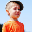 Stock Photo: Little boy crying outdoor