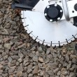 Circular saw blades concrete cutter — Foto Stock
