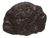 Coal lump carbon nugget isolated on white — Stock Photo