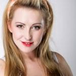 Beautiful blonde woman retro styling — Stock Photo #29141433