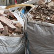 Stock Photo: Full construction waste debris bags