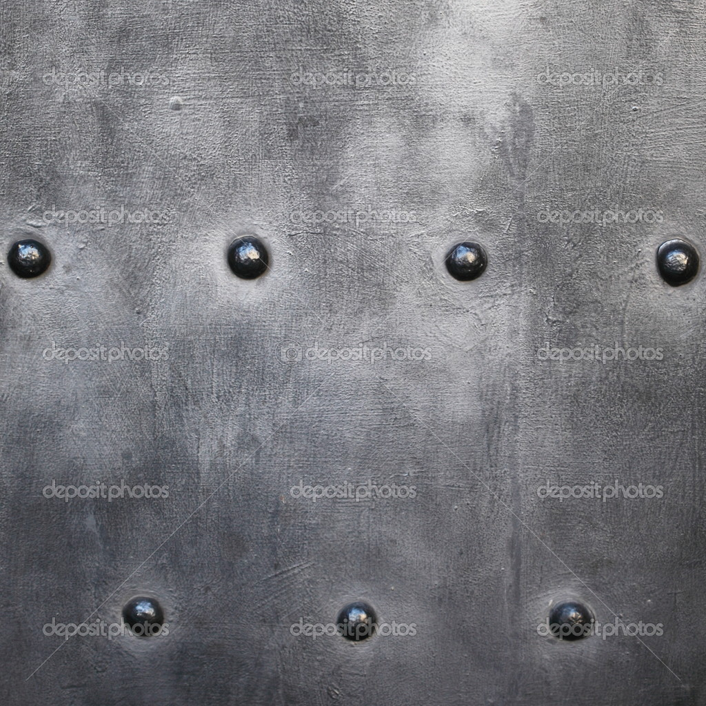 Black metal plate or armour texture with rivets — Stock ...
