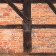 Background of beams and bricks exterior building — Stock Photo