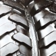 Detailed view of heavy vehicle new tire texture — Foto Stock