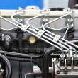 Stock Photo: Diesel engine detail