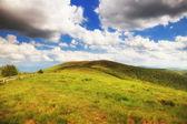 Mountains hills landscape Bieszczady Poland — Stock Photo