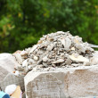 Stock Photo: Full construction waste debris rubble bags