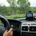 Car satelite navigation system gps device — Stock Photo