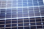 Background of blue solar panels cells — Stock Photo
