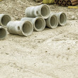Stock Photo: Industrial concrete pipe for building construction