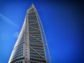 Malmo, Sweden city with famous Turning Torso. — Stock Photo