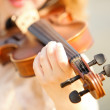 Female hand with a violin outdoor — Stock Photo #30987615