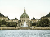Royal palace Amalienborg, cathedral Denmark — Stock Photo