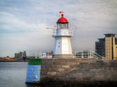 MALMO, SWEDEN old lighthouse on August 7, 2013 — Stock Photo