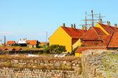 Maisons sur christiansoe île bornholm Danemark — Photo