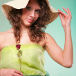 Beautiful spring woman portrait. Green concept — Stock Photo #31981157