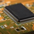 Printed Circuit Board with electrical components — Stockfoto