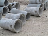 Industrial concrete pipe for building construction — Stock Photo