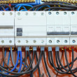 Electrical panel box with fuses and contactors — Stock Photo #32098691