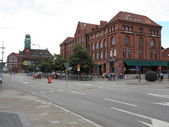 MALMO, SWEDEN cityscape tower of train station on August 7, 2013 — Stock Photo