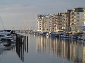 MALMO, SWEDEN marina on August 7, 2013 — Stock Photo