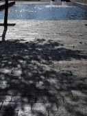Route chaussée de pierre et fontaine cityspace — Photo