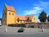 Small rural church in Denmark Scandinavia Europe — Stock Photo