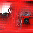 Stock Photo: Red lattice grid in industry machinery as background