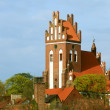 Gniew town with teutonic castle at Wierzycriver, Poland — Stock Photo #32630683