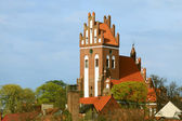 Gniew town with teutonic castle at Wierzyca river, Poland — Stock Photo