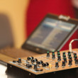 sound mixer control panel audio mengpaneel — Stockfoto