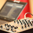 Sound mixer control panel audio mixing console — ストック写真