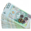 Stock Photo: Money and savings. Stack of 100's polish zloty banknotes