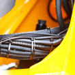 Hydraulic connections of a machinery industrial detail — Stock Photo