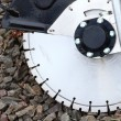 Circular saw blades concrete cutter — Stock Photo