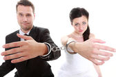 Relationship concept couple in divorce crisis — Stock Photo