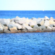Stone breakwater for protection of coast — Foto de Stock